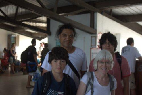 Four of us at Hiva Oa