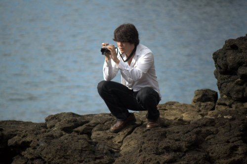 abraham with camera
